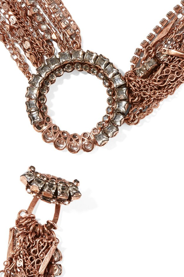 Erickson Beamon | War on the Roses rose gold-plated Swarovski crystal body chain | NET-A-PORTER.COM