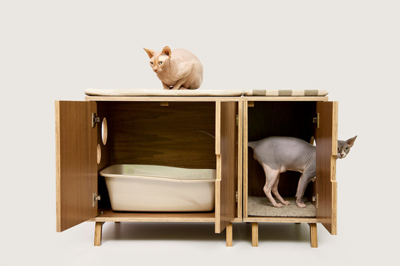 Mid Century Modern Cat Furniture & Litter Box by modernistcat