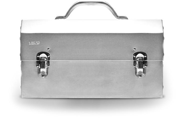The Original Miners Lunchbox:Classic Polished Aluminum | L May MFG / Miners Lunchbox