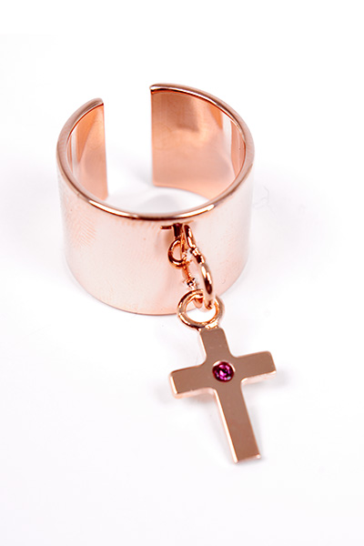 【Maria Francesca Pepe】RING WITH MFP CROSS CHARM | LADY'S | ACCESSORY | FAKE TOKYO.com