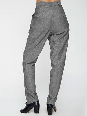 Chambray High-Waist Pleated Pant | American Apparel