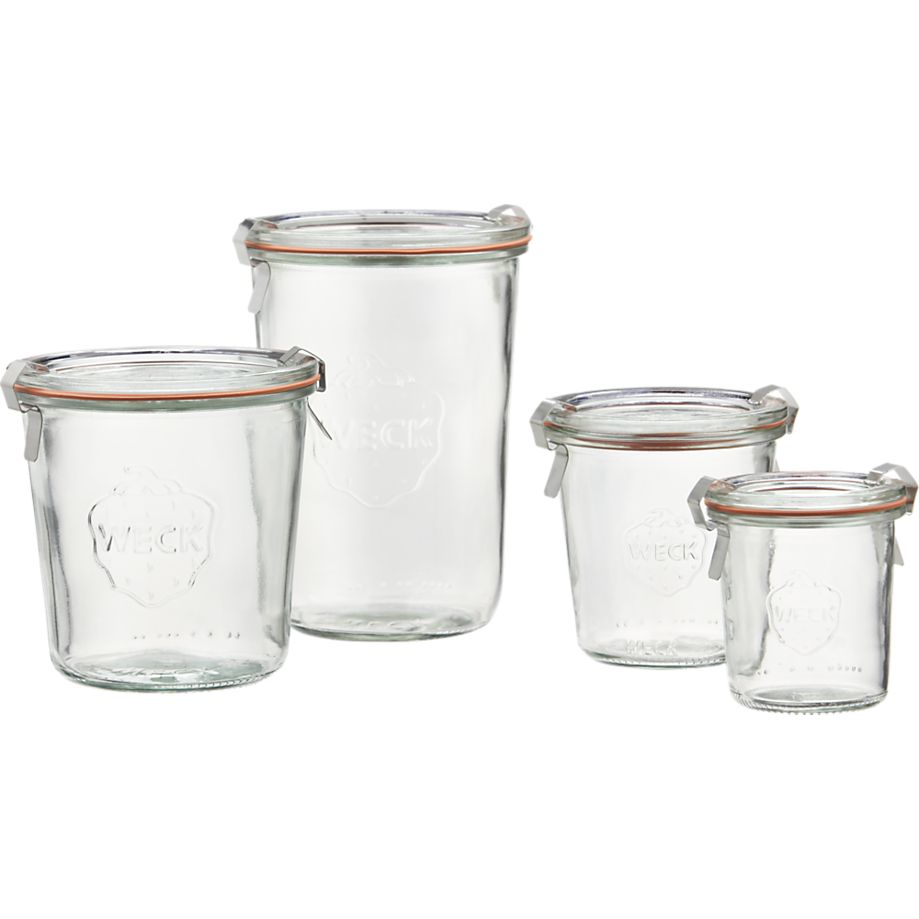 Weck Tall Canning Jars in Food Containers, Storage   Crate and Barrel