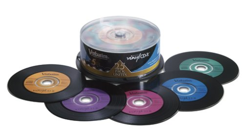 Amazon.com: Verbatim Digital Vinyl 700 MB Multicolor CD-R Spindle (25 Discs): Electronics