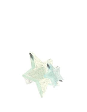 【LASO ラソ】【国内発送】【ASOS エーソス】Limited Edition Glitter Double Large Star Ring 円高還元/安心の国内発送/関税・送料込価格