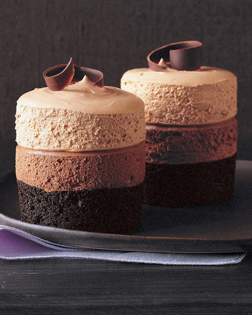 Triple-Chocolate Mousse Cake - Martha Stewart Recipes