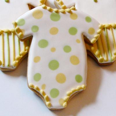 Whipped Bakeshop Philadelphia: Dotty Onesie Cookie Favors | Whipped Bakeshop