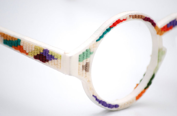 EYE WEAR GLASSES: 3D printed glasses #1: a cross-stitch eyewear creation | Kick-Ass Glasses for the Four-Eyed Classes