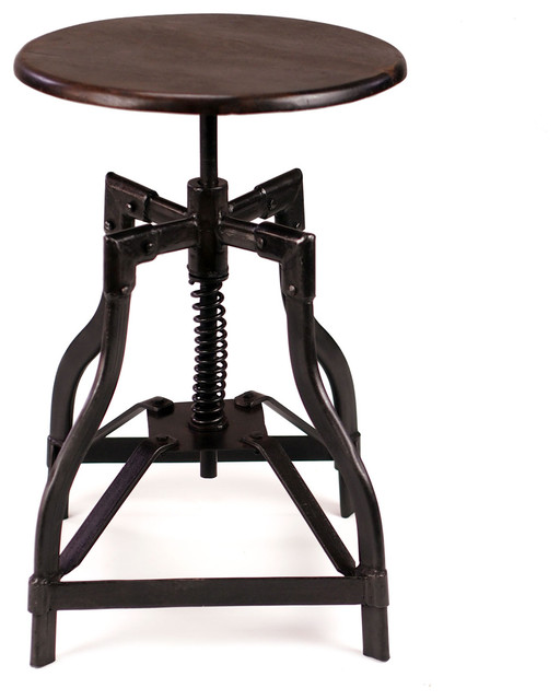 McClain | Industrial Style Swivel Stool - industrial - bar stools and counter stools - by CRASH Industrial Supply