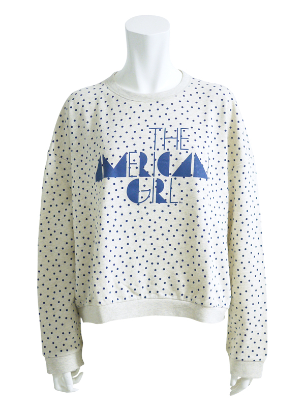 KAREN WALKER::COLLEGE SWEATSHIRTING DOT (CLEOPATRA)||OnEshop