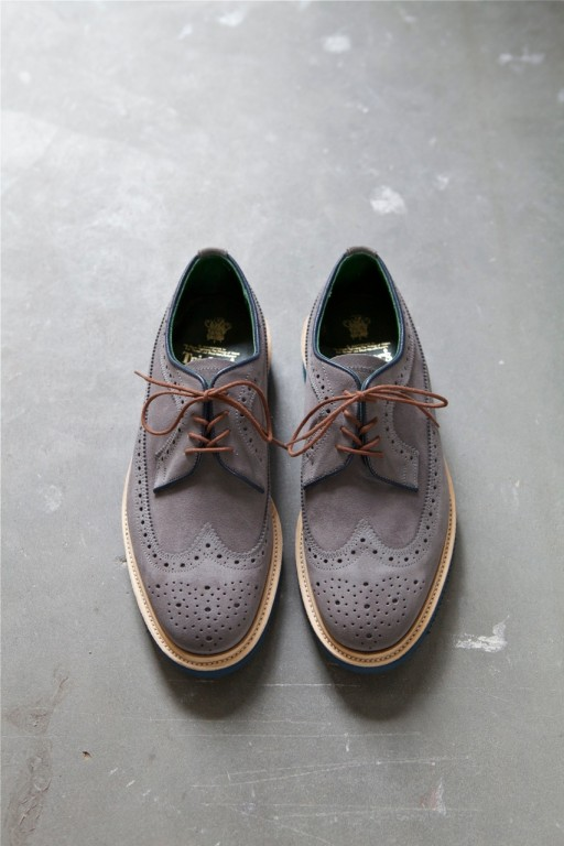 Trickers x FransBoone Richard Longwing ,Grey Suede