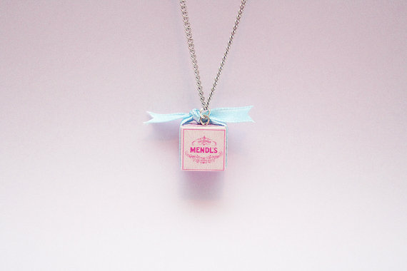 The Grand Budapest Hotel Mendl's Box Necklace by sillylovecrafts