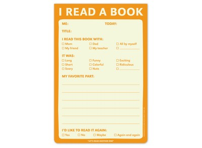 I Read a Book Pad - A Fun Notepad for Kids Who Love to Read by Knock Knock