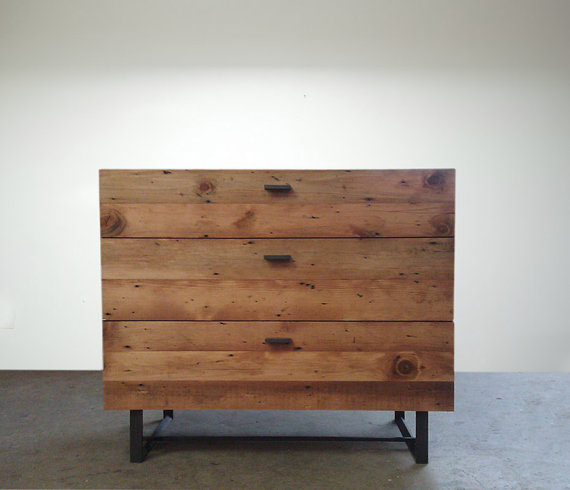 Beautifully Modern Reclaimed Old Growth Dresser by Blakeavenue