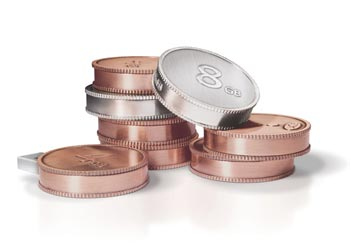 Coin USB Flash Drives by 5.5 Design