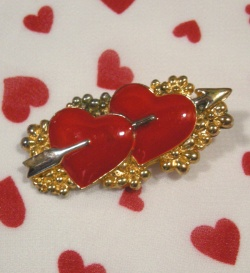 """""""Double Heart"""" Valentine Brooch Accessories"""