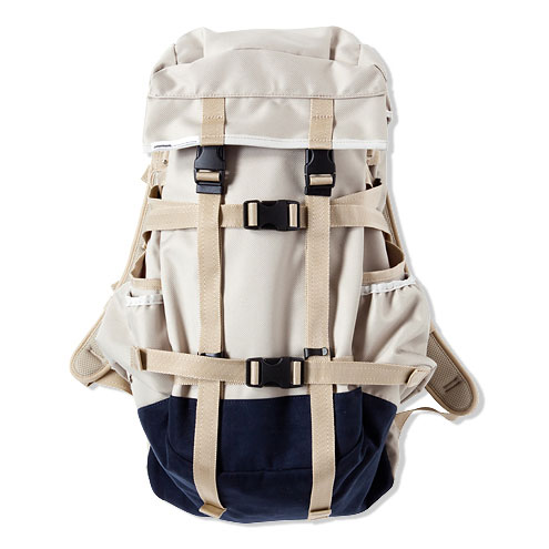 ×immun. BACK PACK [BEIGE/NAVY] - CASH CA OFFICIAL ONLINE STORE