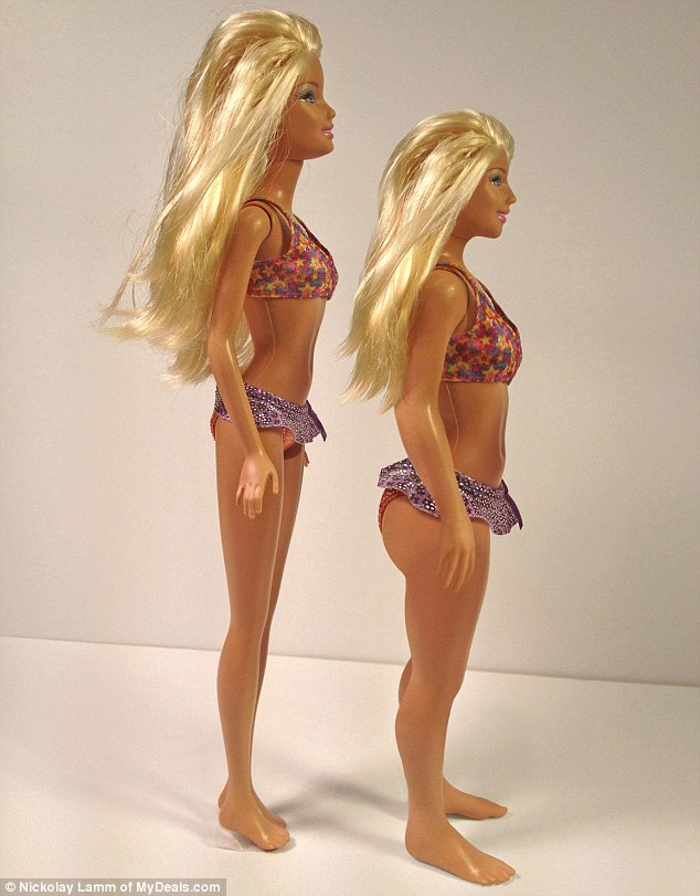 Artist Nikolay Lamm has shown what Barbie would look like with the measurements of a 'normal' 19-year-old woman | Mail Online