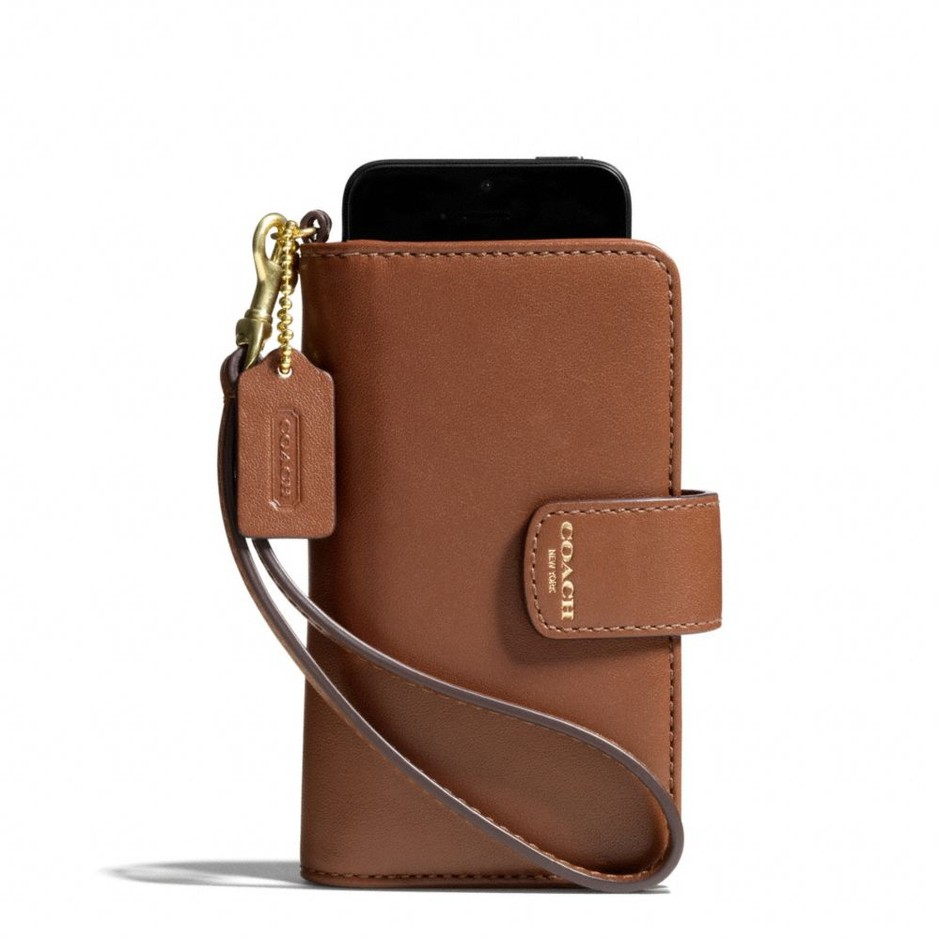 Coach :: LEGACY PHONE WRISTLET IN LEATHER