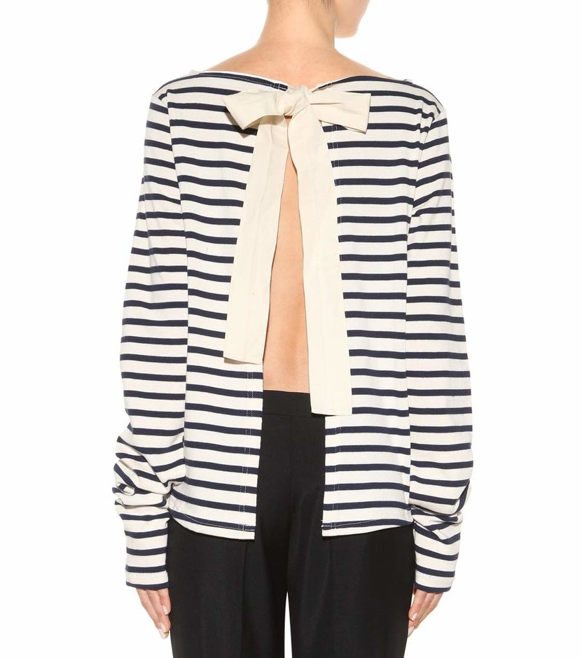 mytheresa.com - Striped cotton sweater - Luxury Fashion for Women / Designer clothing, shoes, bags