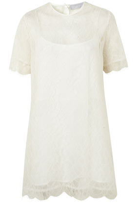 **Lace Mini Tee Dress By Richard Nicoll - Richard Nicoll - Designers - Topshop