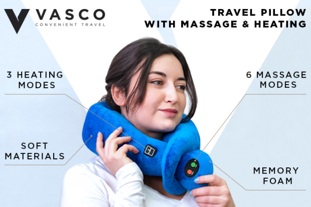 Travel Pillow with Massage & Heating Mode by Vasco   Indiegogo