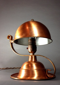"""1930-40's """"Copper"""" Table Lamp - FUNNY SUPPLY"""