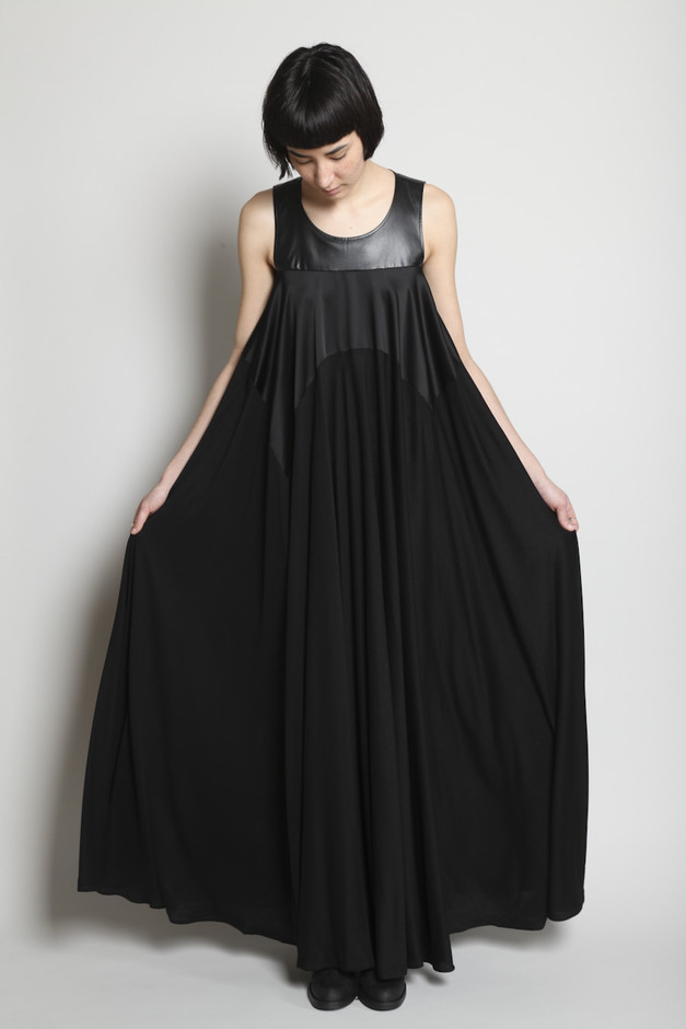TOTOKAELO - Maison Martin Margiela - Paneled Maxi Dress - Black