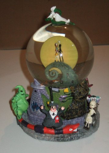 "Amazon.com: Tim Burton's ""The Nightmare Before Christmas"" First Snow Globe (Snowglobe): Home & Garden"