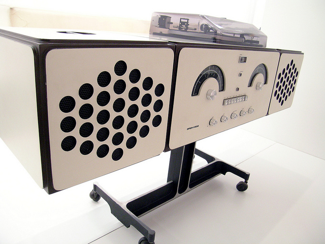 Munich Germany - Cool Music Center - Brionvega RR226 stereo by Achille Castiglioni - Pinakothek Design Museum 095 | Flickr - Photo Sharing!