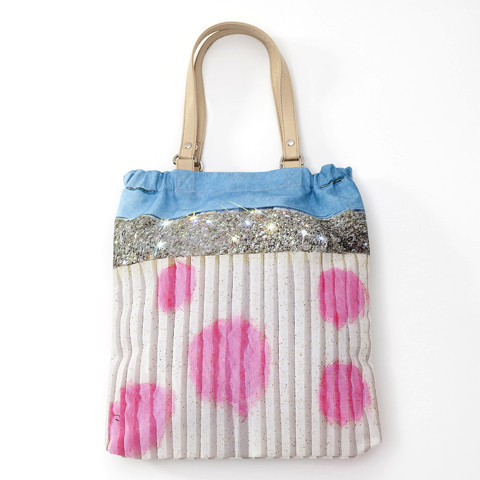 3939 Shop London | Unique product and art Antoni & Alison, pink dots & Glitter shopper bag
