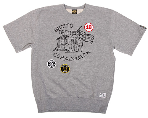 BBP ONLINE STORE - Ghetto Brothers x BBP Ghetto Brothers Corp SS Sweatshirt