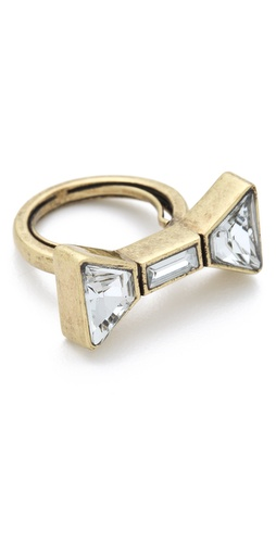 Marc by Marc Jacobs ID Bow Ring | SHOPBOP