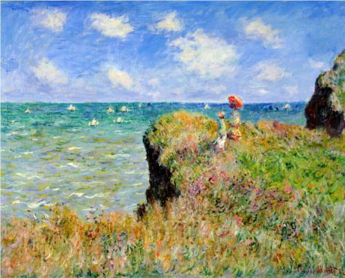 Clifftop Walk at Pourville - Claude Monet - WikiPaintings.org