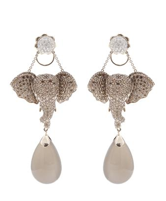 Browns fashion & designer clothes & clothing   LYDIA COURTEILLE   18k gold and diamond elephant earrings