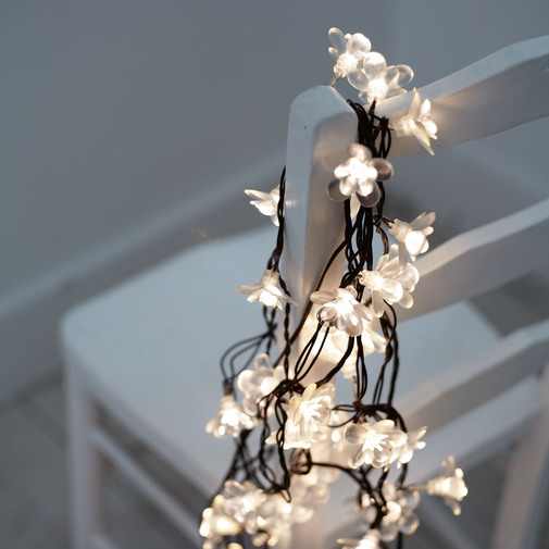 Flower Light Chain — Cox & Cox, the difference between house and home.