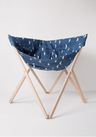 Chair Withe Moons - Denim - Bobochoses