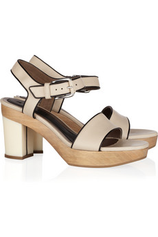 Marni | Leather clog sandals | NET-A-PORTER.COM