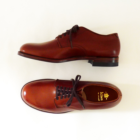 Alden Plain Toe Oxford - - Military Last / Carf Leather - Silver and Gold Online Store