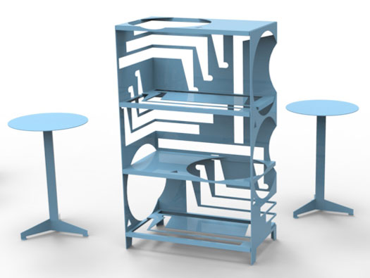 Construct Table by Thomas Schnur and Construct Table Shelf by Samuel Treindl