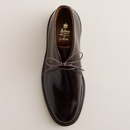 Alden® shell cordovan chukka boots - Alden For J.Crew - Men's shoes - J.Crew