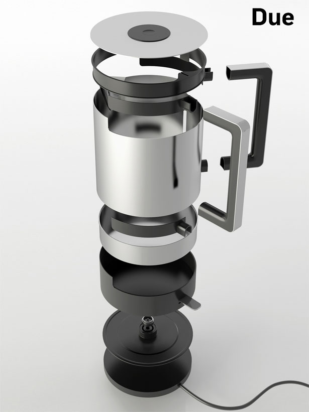 Due Kettle Features Twin Handles for Easy Grip | Tuvie