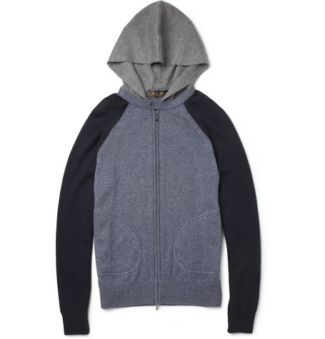Loro Piana Knitted Silk and Cashmere-Blend Hoodie | MR PORTER