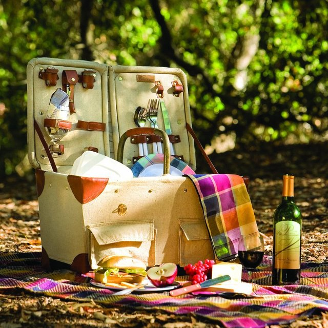 Fancy - Picnic Time Pioneer Picnic Basket with Deluxe Service for Two