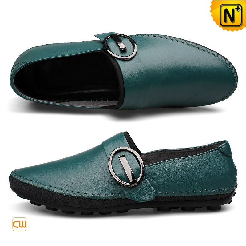 Mens Leather Driving Buckle Loafers CW740378