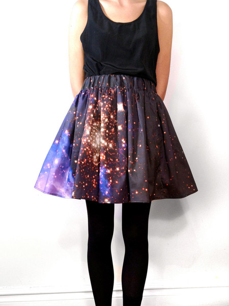 Shadowplaynyc - Starburst Cluster Pixel Galaxy Space Skirt