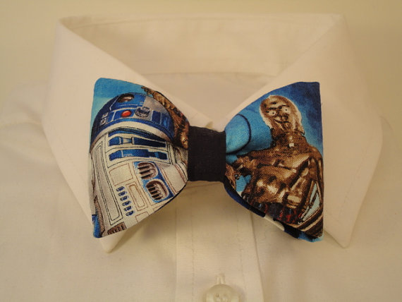 Star wars fabric bow tie by sewfairycute on Etsy