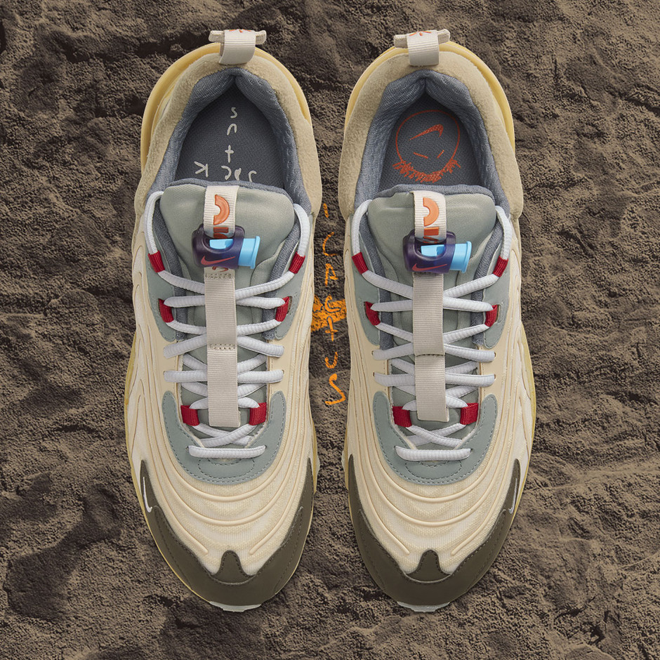 Travis Scott Nike Air Max 270 React Cactus Trails CT2864-200 Release Date - SBD