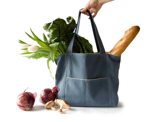 The Very Useful Tote in provincial blue by moop on Etsy