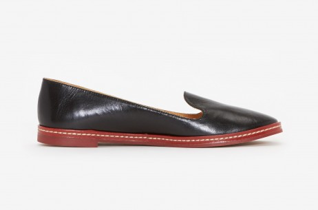 MM6 Maison Martin Margiela Slip On Flat in Black | The Dreslyn
