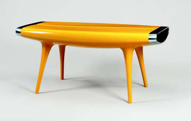 'EVENT HORIZON', A YELLOW PAINTED ALUMINUM TABLE | MARC NEWSON, 1992 | Christie's
